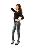 Attractive latin lady, full body Royalty Free Stock Image