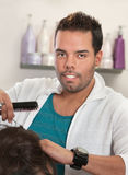 Attractive Latino Hairdresser Stock Photos