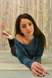 Attractive Latino woman. Woman studio portrait of beautiful latino woman Royalty Free Stock Photos
