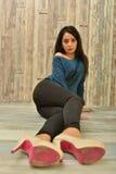Attractive Latino woman Royalty Free Stock Photos