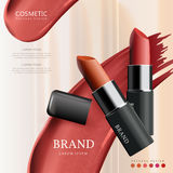 Attractive lipstick package design Royalty Free Stock Images