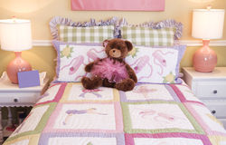 Attractive Little Girls Bedroom Royalty Free Stock Photography