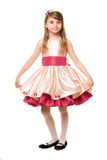 Attractive little lady in a dress Royalty Free Stock Images