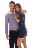 Attractive loving young couple Stock Photos