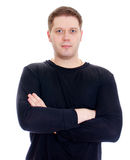 Attractive male with arms folded. Royalty Free Stock Photos