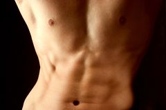 Attractive male body Royalty Free Stock Photo