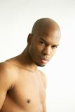 Attractive male fashion model with no shirt. Close up portrait of an attractive male fashion model with no shirt Stock Photos