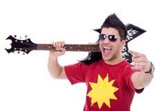 Attractive male guitarist Stock Image