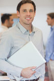Attractive male mature student posing in classroom Royalty Free Stock Photography