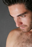 Attractive male model portrait. With beard Royalty Free Stock Photos
