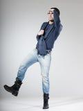 Attractive male model posing in the studio Stock Photo
