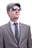 Attractive male model with sunglasses Royalty Free Stock Images
