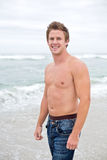Attractive man on beach Royalty Free Stock Photography