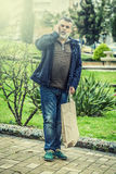 Attractive man with beard shopping Stock Image