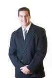 Attractive man in black suit Stock Image