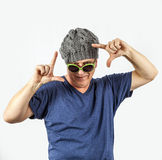 Attractive man with cap Stock Photo