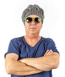 Attractive man with cap Royalty Free Stock Photography