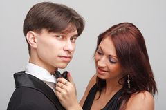 Attractive man and charming woman Stock Photography