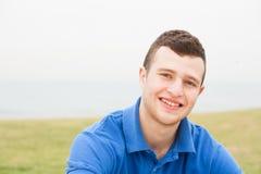 Attractive man, enjoying beach holiday Royalty Free Stock Photography