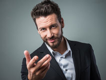 Attractive man flirting Royalty Free Stock Image