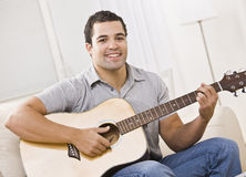 Attractive Man with Guitar stock image