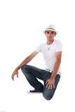Attractive Man Kneeling Stock Images