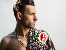 Attractive man, model of fashion, wearing spanish clothes Stock Photo