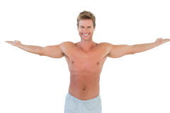 Attractive man opening his arms Royalty Free Stock Photo