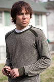Attractive Man Outside in Sweater Stock Photography