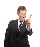 Attractive man pointing Royalty Free Stock Images