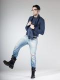 Attractive man posing in the studio Stock Image