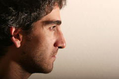 Attractive man profile view Stock Photography