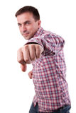 Attractive Man punching Stock Images