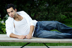 Attractive man Relaxing Stock Photos