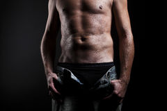 Attractive man shirtless Stock Images