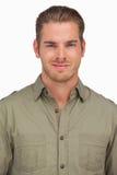 Attractive man smiling at camera Stock Photos
