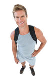 Attractive man in sportswear with hands on hips Stock Photo