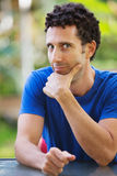 Attractive Man Staring. Staring single man on vacation in Hawaii Stock Photography