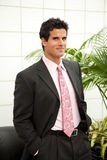 Attractive Man in Suit in Office Building Stock Images