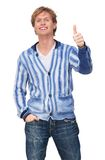Attractive Man with Thumbs Up Stock Image