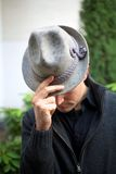 Man with Hat - Bowing before the Audience Stock Photography