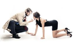 Attractive man and woman Stock Photos