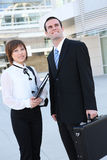 Attractive Man and Woman Business Team Stock Photos