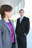 Attractive Man and Woman Business Team Royalty Free Stock Image