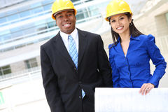 Attractive Man and Woman Business Team Stock Images
