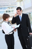 Attractive Man and Woman Business Team Stock Photo