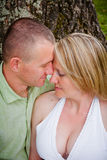 Attractive Man and Woman in Love Royalty Free Stock Image