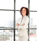 Attractive manager with folded arms Royalty Free Stock Image