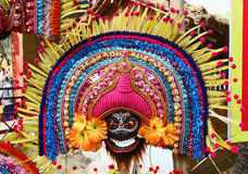 Attractive mask of god and goddess. Dancers wear masks, bright costumes and dance on particular occasion Stock Images