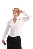 Attractive mature businesswoman Stock Photo